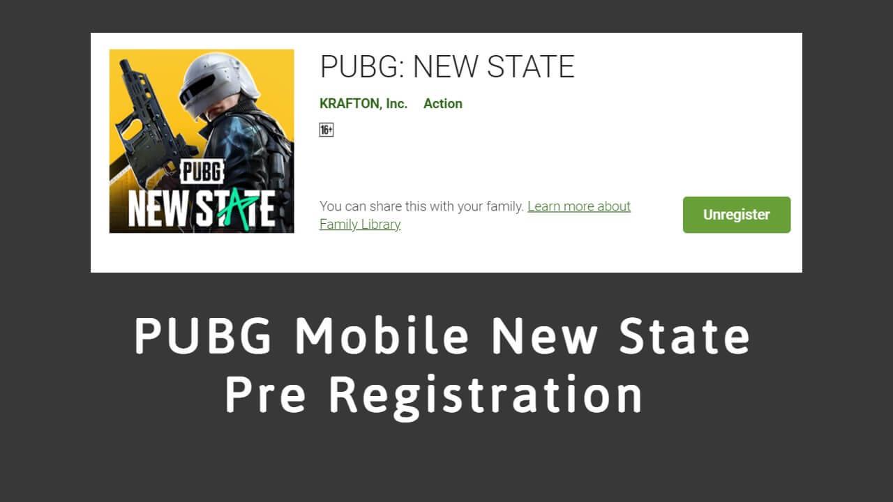 PUBG Mobile New State Pre Registration